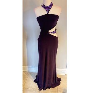 Jovani Plum Evening Dress